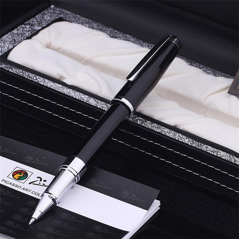 Bút ký chính hãng Picasso 918RBS - Đen cài bạc
